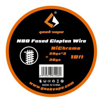 Geekvape uporovna žica N80 fused Clapton 28*3/36 3m
