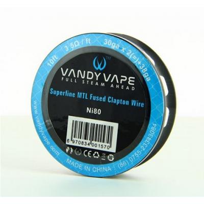 Vandy Vape uporovna žica superfine MTL Fused Clapton Ni80 30GAx2+38 10ft